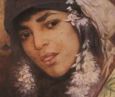 Pastel - Portrait of a Berber woman