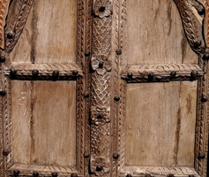 Carved Wood Window - India