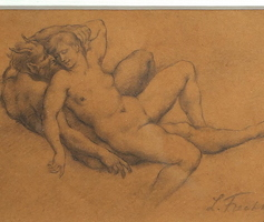 L. Frechkop - Nymph and Satyr - Drawing