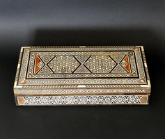 Oriental marquetry box
